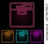 document shelf color neon set....