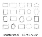 hand drawn doodle round and... | Shutterstock . vector #1875872254