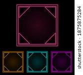 social network sign color neon...