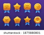 level up ui game icons  casino... | Shutterstock .eps vector #1875880801