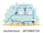 transmitting virus among office ...   Shutterstock .eps vector #1875885724