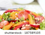 salad with bell peppers  cherry ... | Shutterstock . vector #187589105