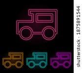 a car color neon set. simple...