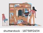 messy closet  dressing home...   Shutterstock .eps vector #1875892654