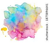 vector watercolor paint splash... | Shutterstock .eps vector #1875896641
