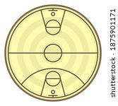 round field to play basketball... | Shutterstock . vector #1875901171