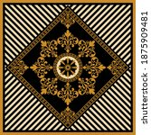 golden decorative baroque with... | Shutterstock .eps vector #1875909481