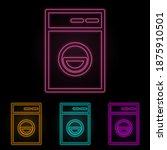 washing machine color neon set. ...