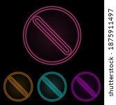 prohibition color neon set....