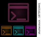 movie cracker color neon set....