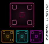 playing halls five color neon...