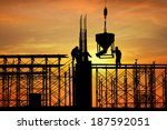 silhouette of construction... | Shutterstock . vector #187592051