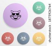 cool cat emoji badge color set...