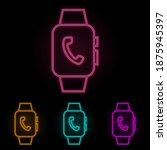smart watch handset color neon...