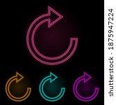 refresh sign color neon set....