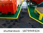 Safety Walkway On Deck Of Ship. ...
