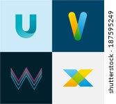 u v w x letters