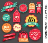 illustration of different sale... | Shutterstock .eps vector #187595501