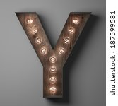 Letter Y For Sign With Light...