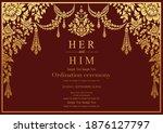 thailand background  lai rot... | Shutterstock .eps vector #1876127797