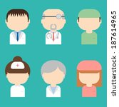 set of medical characters icons.... | Shutterstock .eps vector #187614965