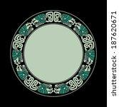 ornament circle celtic bird... | Shutterstock .eps vector #187620671