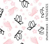 seamless pattern with cute... | Shutterstock .eps vector #1876216321