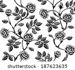 vintage floral seamless pattern.... | Shutterstock . vector #187623635