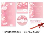beautiful wedding invitation... | Shutterstock .eps vector #187625609