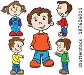 smiling kids cartoon... | Shutterstock .eps vector #187626011