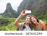 Couple Taking Selfie Photo Wit...