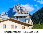 church tower in village of pian ... | Shutterstock . vector #187635815
