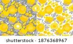 abstract shapes summer flower... | Shutterstock .eps vector #1876368967