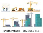 building stages. house... | Shutterstock .eps vector #1876567411