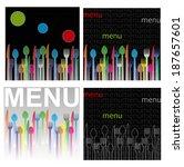menu for restaurant   Shutterstock .eps vector #187657601