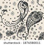 bandana print. vector seamless... | Shutterstock .eps vector #1876580011