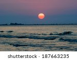 beautiful sunrise with in... | Shutterstock . vector #187663235