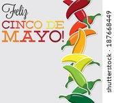 cinco de mayo chilli card in... | Shutterstock .eps vector #187668449
