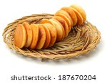dorayaki is a japanese bread on ... | Shutterstock . vector #187670204