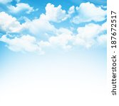 blue sky with clouds background | Shutterstock . vector #187672517