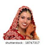 indian bride wearing jewelery | Shutterstock . vector #18767317