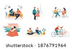 collection of man and woman... | Shutterstock .eps vector #1876791964