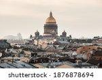 Golden Dome Of Saint Isaac's...