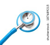 medical stethoscope isolated on ... | Shutterstock . vector #187689215