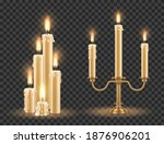 Candlestick And Burning Candles ...