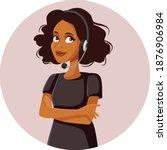 african female customer...   Shutterstock .eps vector #1876906984