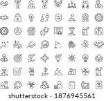 thin outline vector icon set... | Shutterstock .eps vector #1876945561