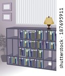 the view of bookshelf in the... | Shutterstock .eps vector #187695911
