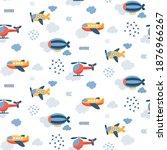 seamless vector children... | Shutterstock .eps vector #1876966267