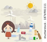garbage  environmental... | Shutterstock .eps vector #1876981111